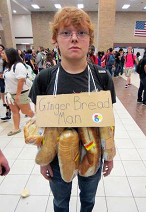 ginger bread man t-shirt