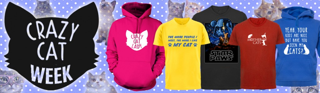 crazy cat t-shirts