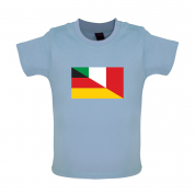 Half German Half Italian Flag Baby T Shirt