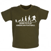 Born to play American Football Baby T Shirt