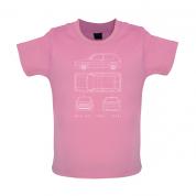 4 View Golf GTI MK2 Baby T Shirt