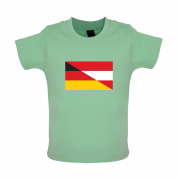 Half German Half Austrian Flag Baby T Shirt