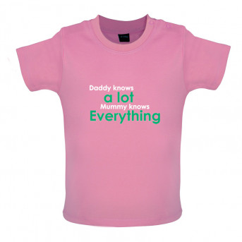 0bd74339 Daddy Knows A Lot Mummy Knows Everything T shirt | View our full ...
