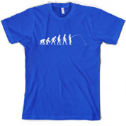Evolution of Man Fishing T Shirt