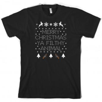 Merry Christmas Ya Filthy Animal T Shirt Dressdown