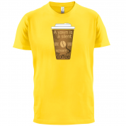 A Yawn is a Silent scream for Coffee T Shirt