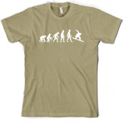 Evolution of Man Snowboarding T Shirt