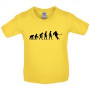 Evolution of Man Ice Hockey Kids T Shirt