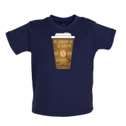 A Yawn is a Silent scream for Coffee Baby T Shirt