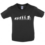 Evolution of Man Cycling Kids T Shirt