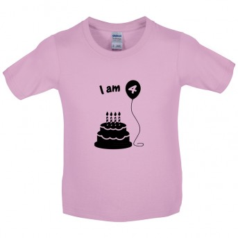 I Am 4 Kids Birthday T Shirt