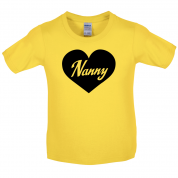 Heart Nanny Kids T Shirt