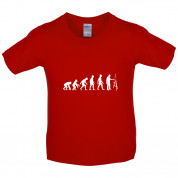 Evolution Of Man Artist Kids T Shirt