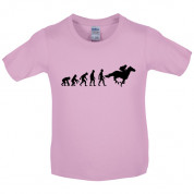 Evolution of Man Horse Riding Kids T Shirt