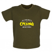 All I Care About Is Cycling Baby T Shirt