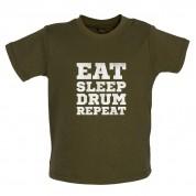 Eat Sleep Drum Repeat Baby T Shirt