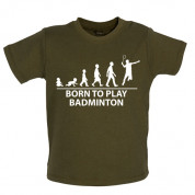 Born to play Badminton Baby T Shirt