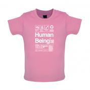 100% Organic Human Being Baby T Shirt