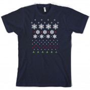 Christmas Snow Flake Tree T Shirt
