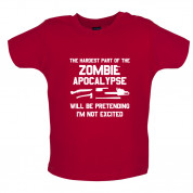 The Hardest Part Of The Zombie Apocalypse Baby T Shirt