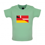 Half German Half Danish Flag Baby T Shirt