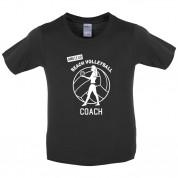 Amateur Beach Volleyball Coach Kids T Shirt