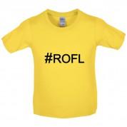 #ROFL (Hashtag) Kids T Shirt
