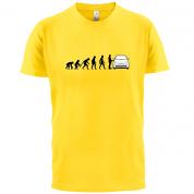 Evolution of Man 500 Driver T Shirt