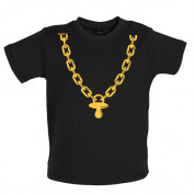 Gold chain and dummy Baby T Shirt