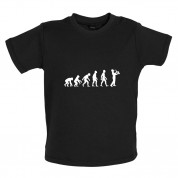 Evolution of Man Saxophone Player Baby T Shirt