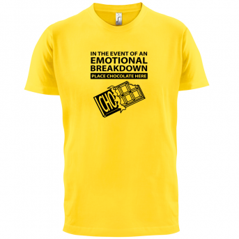 f249a5a65f57 Emotional Breadown Place Chocolate Here T shirt