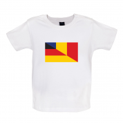 Half German Half Romanian Flag Baby T Shirt