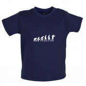 Evolution of Man Violinist Baby T Shirt
