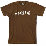 Evolution of Man Football T Shirt