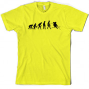 Evolution of Man Skiing T Shirt