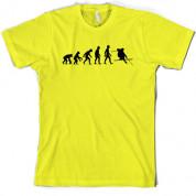 Evolution of Man Skiing T Shirt