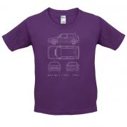 4 View Golf MK2  Kids T Shirt