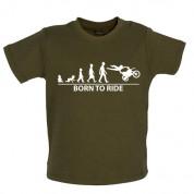 Born to Ride Baby Moto-x T Shirt