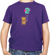 2nd Birthday Bear Kids T Shirt