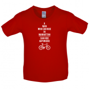 A Man Who Can Ride in Manhattan can Ride anywhere Kids T Shirt