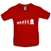 Evolution Iron Throne Kids T Shirt