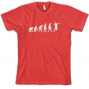 Evolution of Man Badminton T Shirt