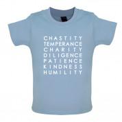 7 Catholic Virtues Baby T Shirt