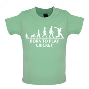 Born to play Cricket Baby T Shirt