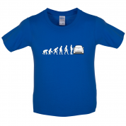 Evolution of Man 500 Driver Kids T Shirt
