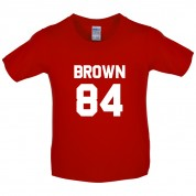 Brown 84 Kids T Shirt