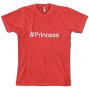#Princess (Hashtag) T Shirt