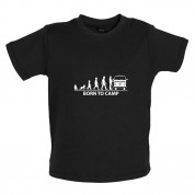 Born To Camp (Bay Window) Baby T Shirt