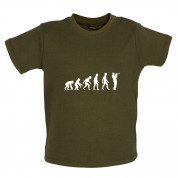 Evolution of Man Trumpet Player Baby T Shirt