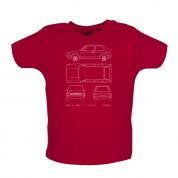 4 View Golf MK1  Baby T Shirt